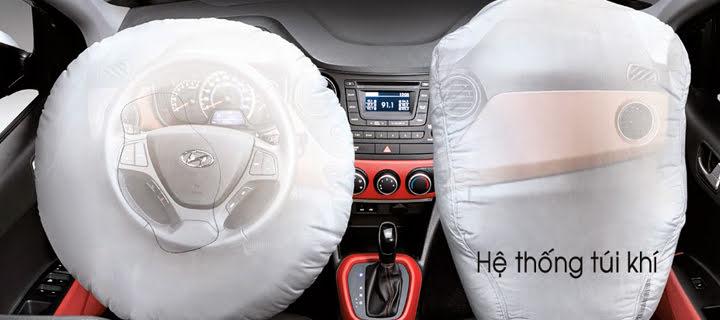 Trang bị 2 túi khí cho ghế lái và ghế phụ